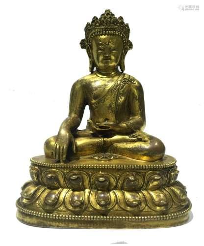 Chinese Gilt Bronze Buddha Figure