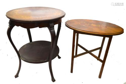 Two Side Tables with Pearl Inlaid