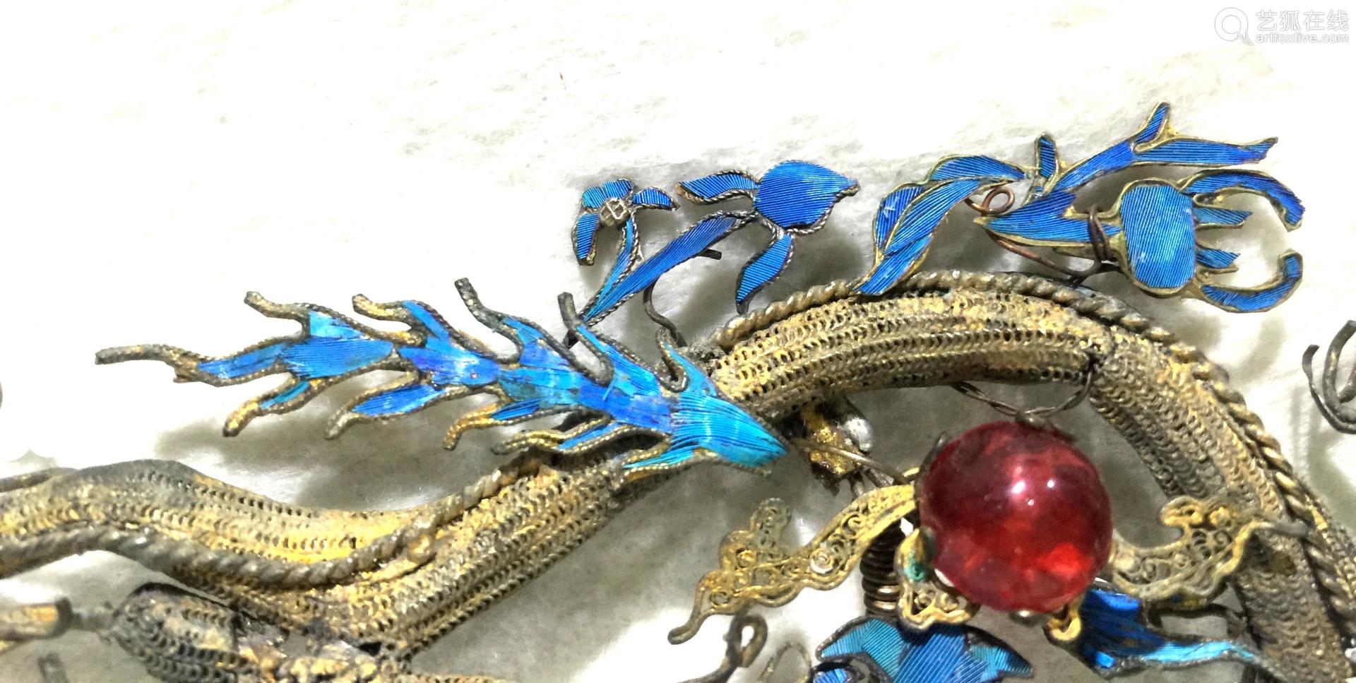 Chinese Silver Enamel Hair Pin