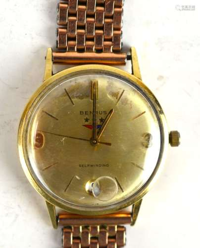 14 K BENURS Gold Watch