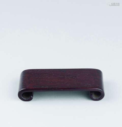 清代(1644-1911) 紫檀下卷形墨床