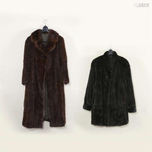 毛皮大衣二件