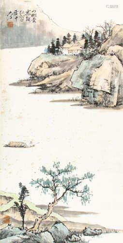 唐雲  江山釣隱
