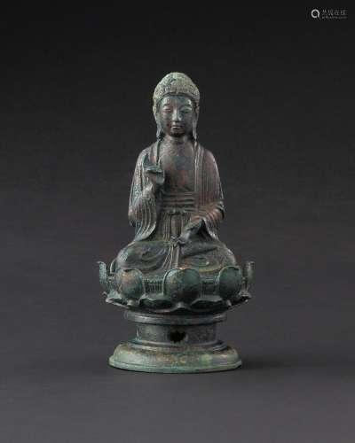 辽 铜释迦牟尼佛坐像