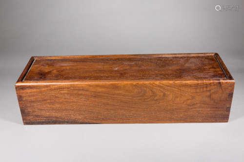 清 瘿木画盒