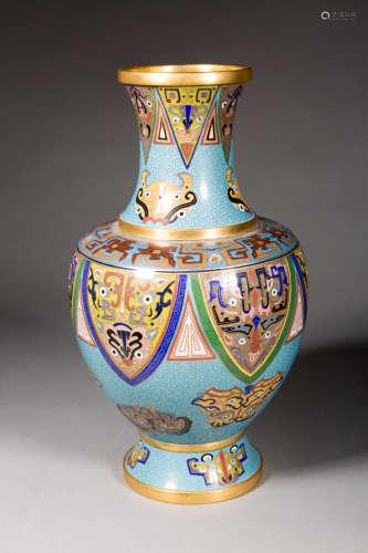 民国  景泰蓝瓶