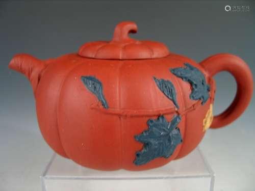 Chinese pumpkin shape Yixing Teapot.
