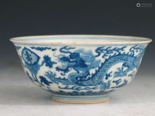 Chinese blue and white porcelain bowl, Daoguang mark.