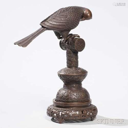 Bronze Bird on a Perch