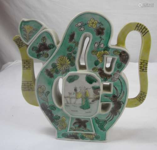Antique Chinese Lucky Teapot