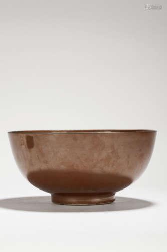 清 紫金釉大碗
