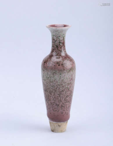 Chinese peach blossom glazed porcelain vase, Kangxi