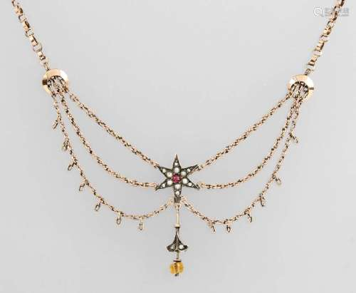 Art Nouveau necklace, german approx. 1890s