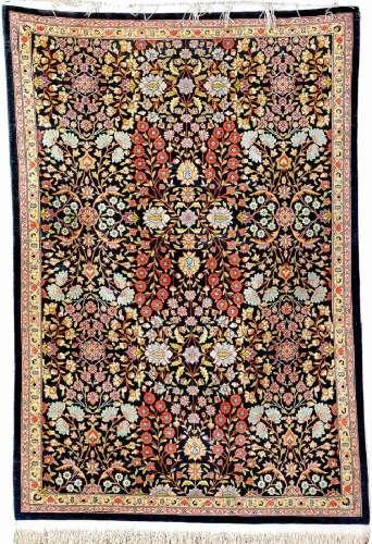 Silk Hereke 'Rug' (Mille-Fleur Design),