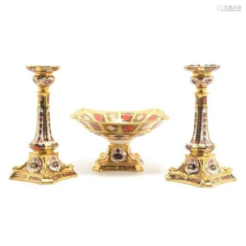 Royal Crown Derby Table Garniture in Imari Pattern
