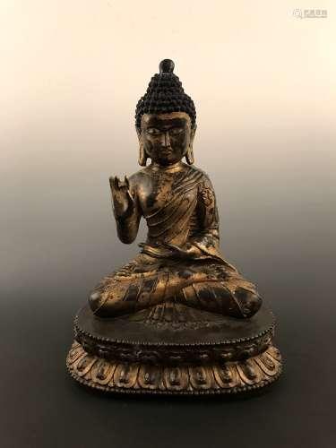 Fine Ming Style seated Buddha