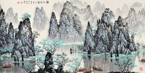 白雪石 漓江渔村