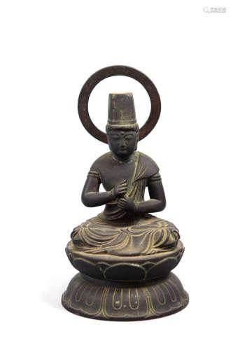 Japanese Bronze Buddha - Edo or Earlier