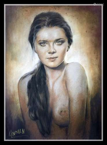 An Oil Painting Of A Women