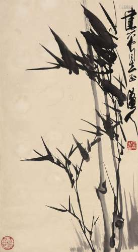 张立辰(b.1939) 墨竹 立轴 水墨纸本