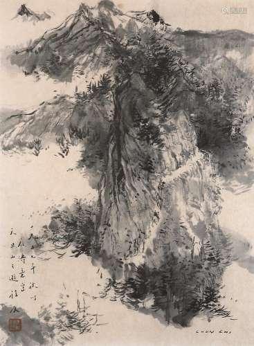 程及(1912~2015) 以石涛意写天目山之游 镜心 彩墨纸本