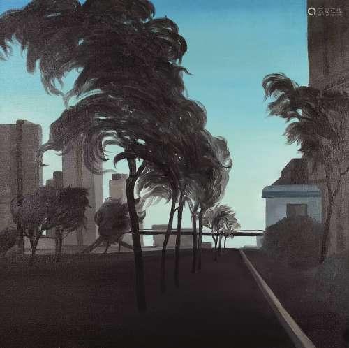 厉槟源(b.1985) 风 镜心 布面油画