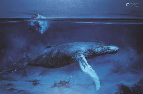 么红岩(b.1988) 我的海底世界浮出海面 镜心 布面油画