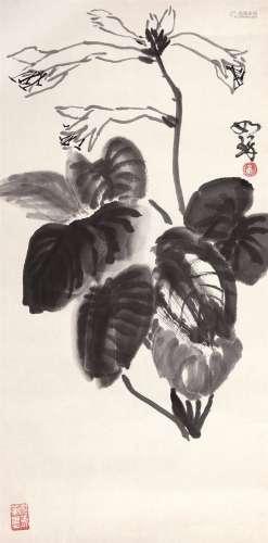 崔如琢(b.1994) 花卉 镜心 水墨纸本