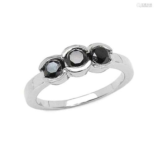 *Fine Jewelry 1.22CT Round Cut Black Diamond And