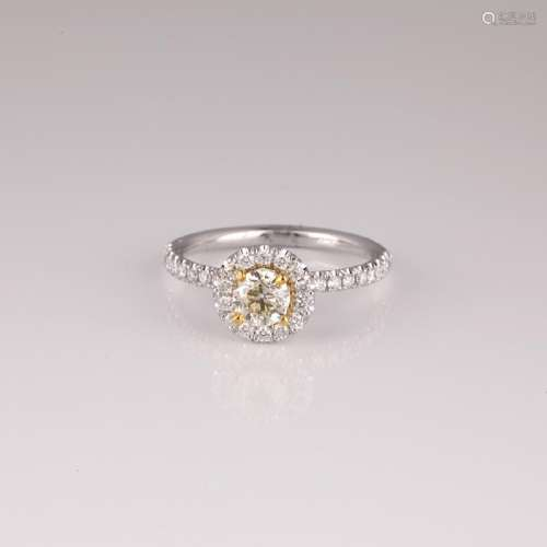 APP: 5.9k *14 kt. Two Tone Gold, 0.81CT Round Cut