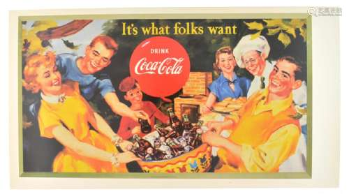 Collectable Coca Cola Advertising Poster (17.5'' x