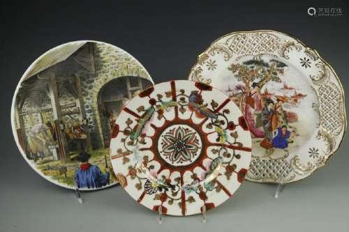 Three Art Decor Plates