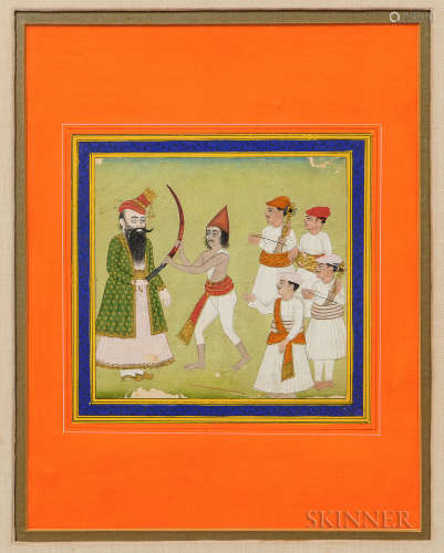 Mughal-style Miniature Painting 小型绘画