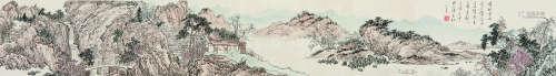 溥儒(1896~1963) 千峰流水卷 手卷 设色纸本