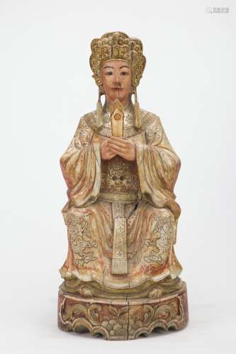 A Chinese Wood Figure