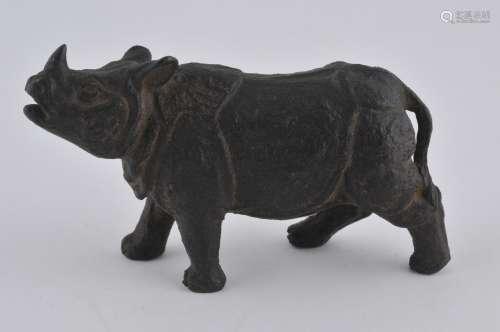 Bronze rhinocerous. Japan. Meiji period (1868-1912).