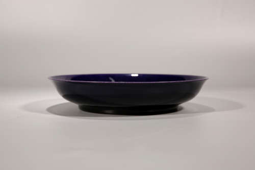 乾隆茄皮紫盘