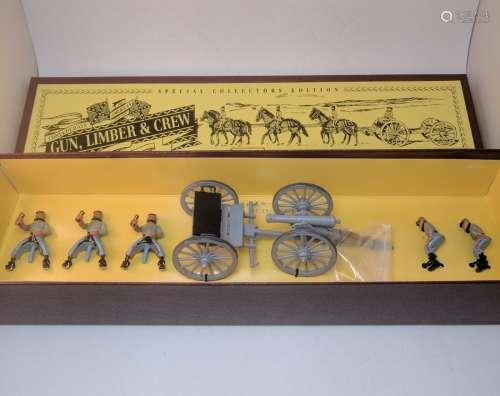 Britains 8874 Confederate Gun, Limber & Crew
