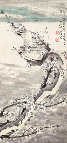 孙雪泥(1888~1965) 白梅如雪 立轴 设色纸本