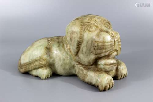 Chinese carved stone foo dog.