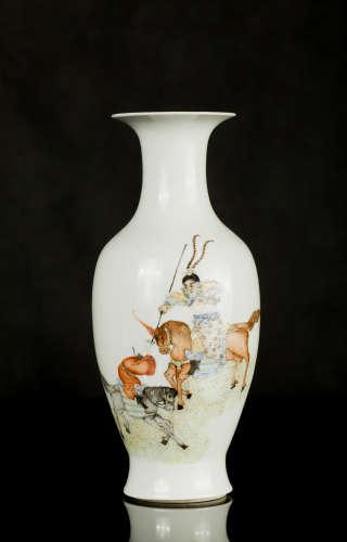 民国人物战将花瓶