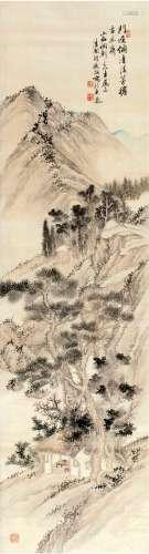 胡铁梅(1848~1899) 山居图 立轴 设色绢本