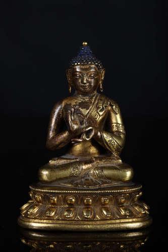 铜鎏金释迦牟尼