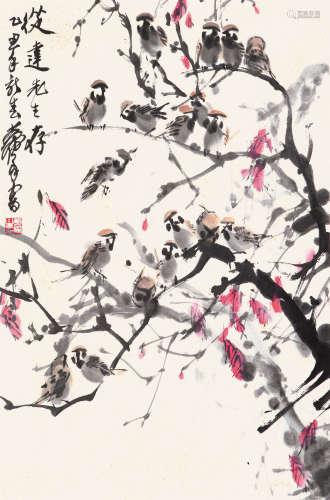 黄 胄(1925-1997) 晨曲 纸本设色 镜心