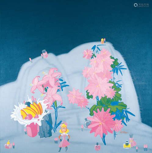 俸正泉(b.1976) 2007年作 红花 布面丙烯