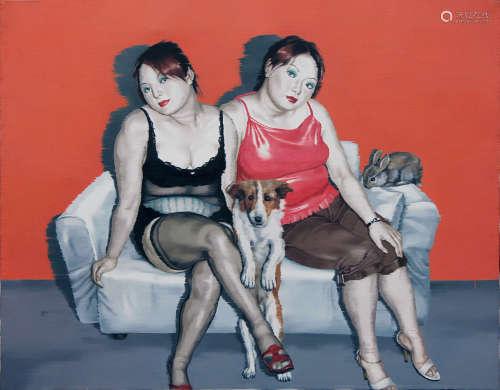 李季(b.1963) 2006年作 宠物系列 布面油画