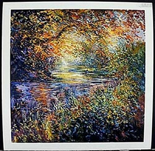 "Lithograph ""Color Creek""  Michael Schofield"