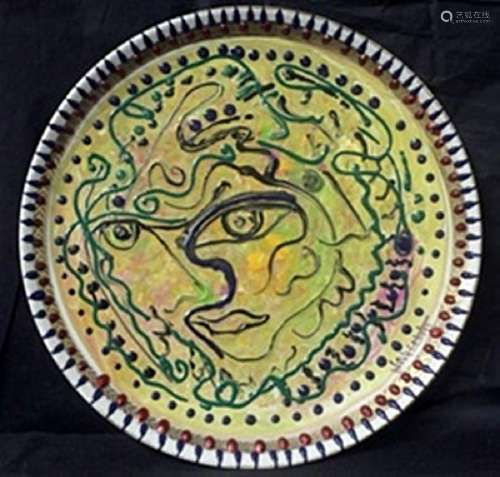 "Original Oil on Ceramic Plate ""Expressions""   William"