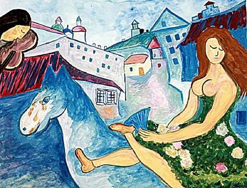 The Love - Marc Chagall - Watercolor