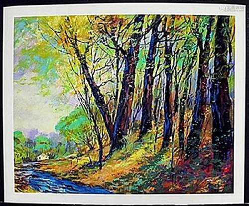 """Lithograph """"Little House on a Hill""""  after Michael"""